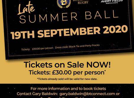 Late Summer Ball - NEW DATE