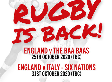 Rugby is back!