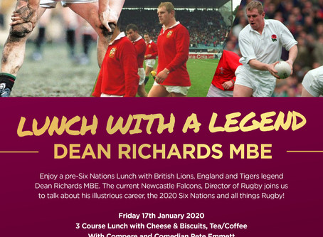 Lunch with a Legend - Dean Richards MBE