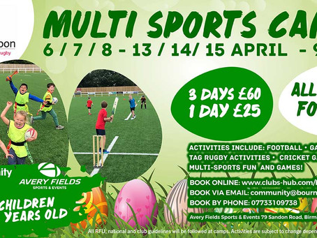 Easter Camps - Book now!