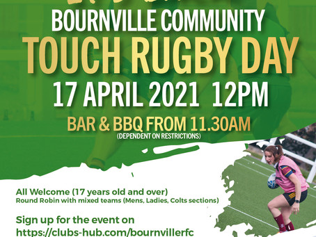 It's back! Touch Rugby Day - 17th April!