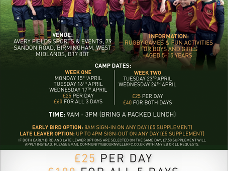 Easter Sports/Rugby Camps