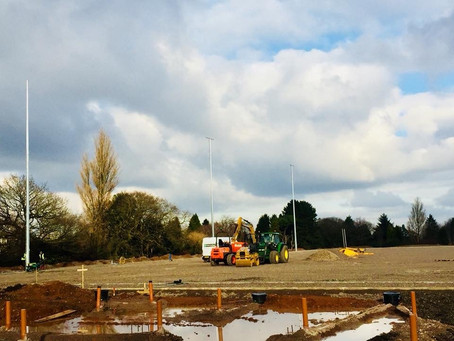 The new site is coming on leaps and bounds