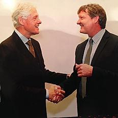 Sir Peter Birkett meeting Bill Clinton