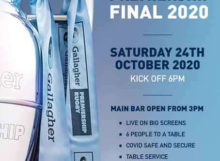 Watch the Premiership Final with us!