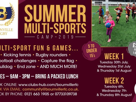 Summer Sports Camps are coming!