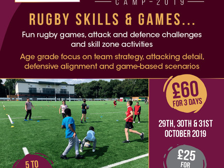 October half term Sports Camps are coming!
