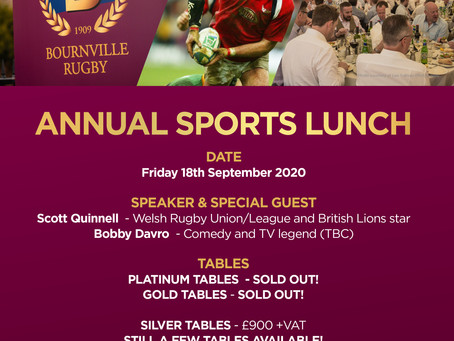 Annual Sports Lunch- NEW DATE