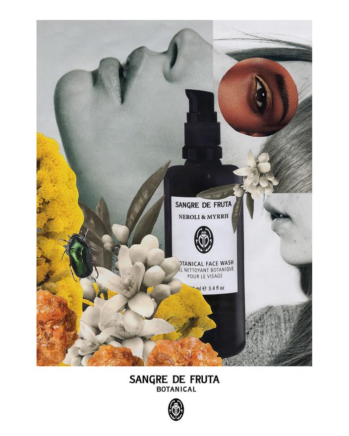 Sangre de Fruta Botanical - Neroli & Myrrh Face Wash Campaign