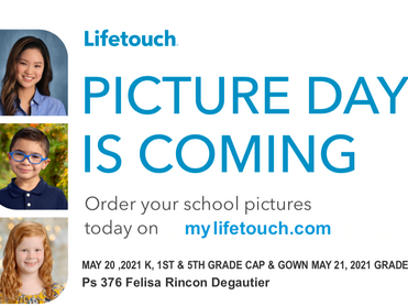 2021 School Picture Days are May 20-21