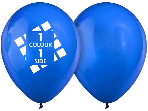 25 Balloons, 1 colour 1 side print