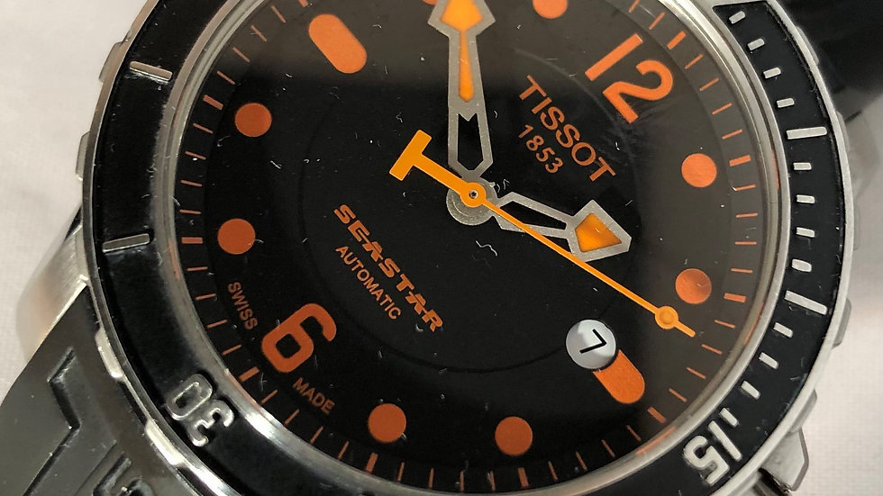TISSOT Seastar Automatic 300m Divers watch. 2014. Pre-owned.
