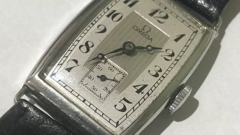 Omega Art Deco Steel Men's watch. 1930s. Pre-owned