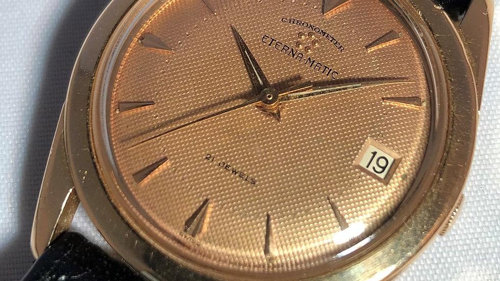 ETERNA - MATIC 18 rose Chronometer automatic watch. 1960s. pre-owned