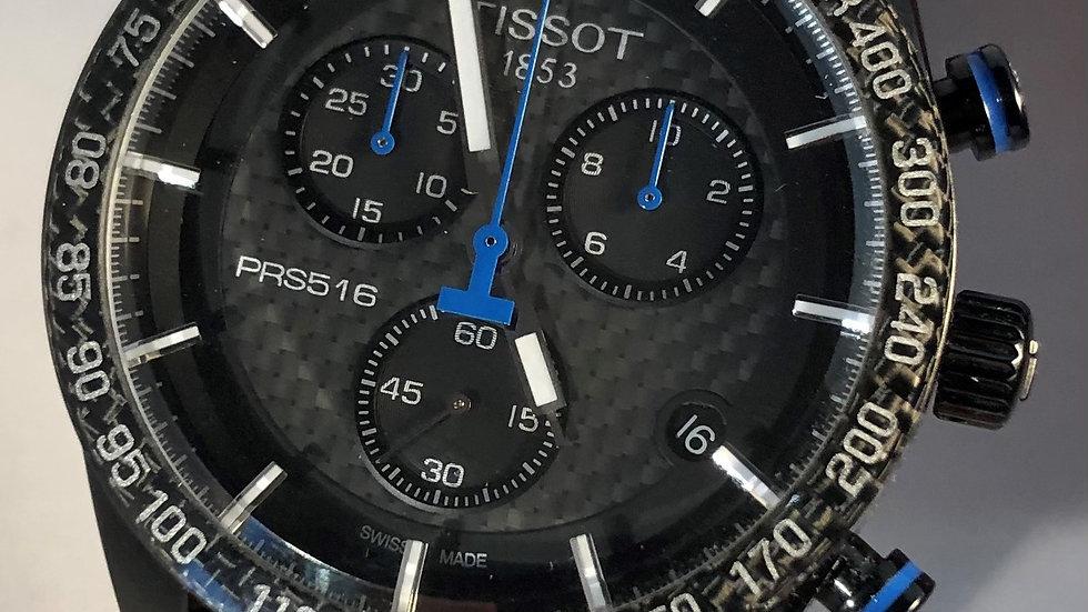 TISSOT PRS 516 Chronograph black case quartz watch. Pre-owned