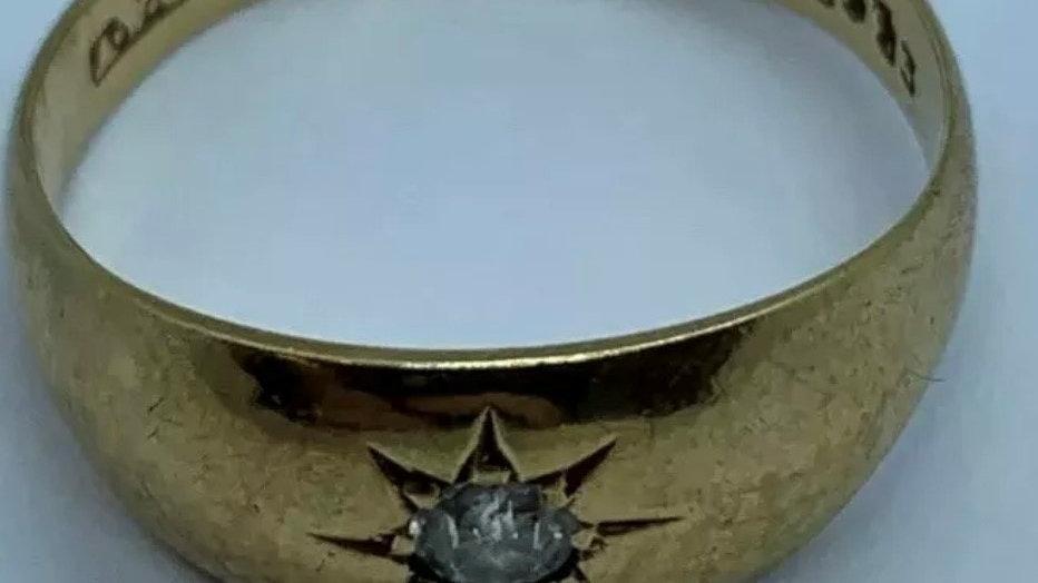 Antique 18ct Gold Diamond Ring. Birmingham 1917