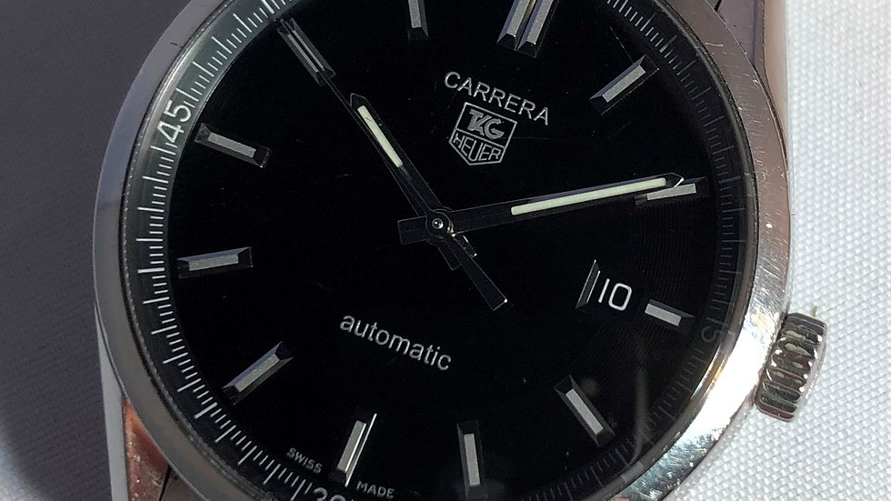 TAG Heuer Carrera Calibre 5 Automatic watch. Pre-owned.