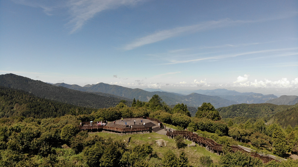 An aerial view of the Xiaoliyuanshan Lookout