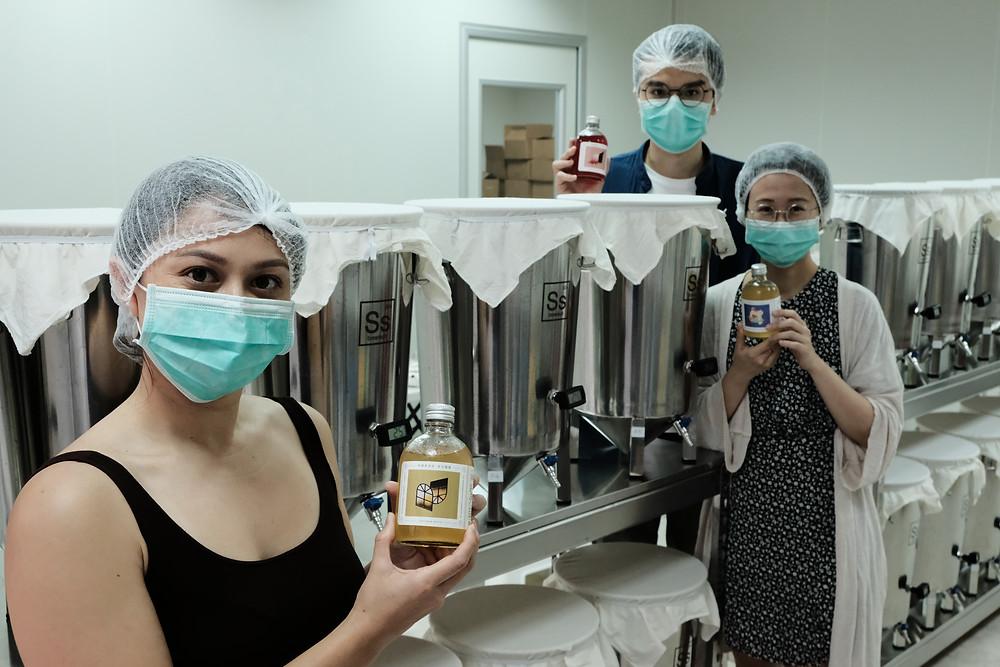 Yu Fermentory's Taoyuan-based kombucha factory