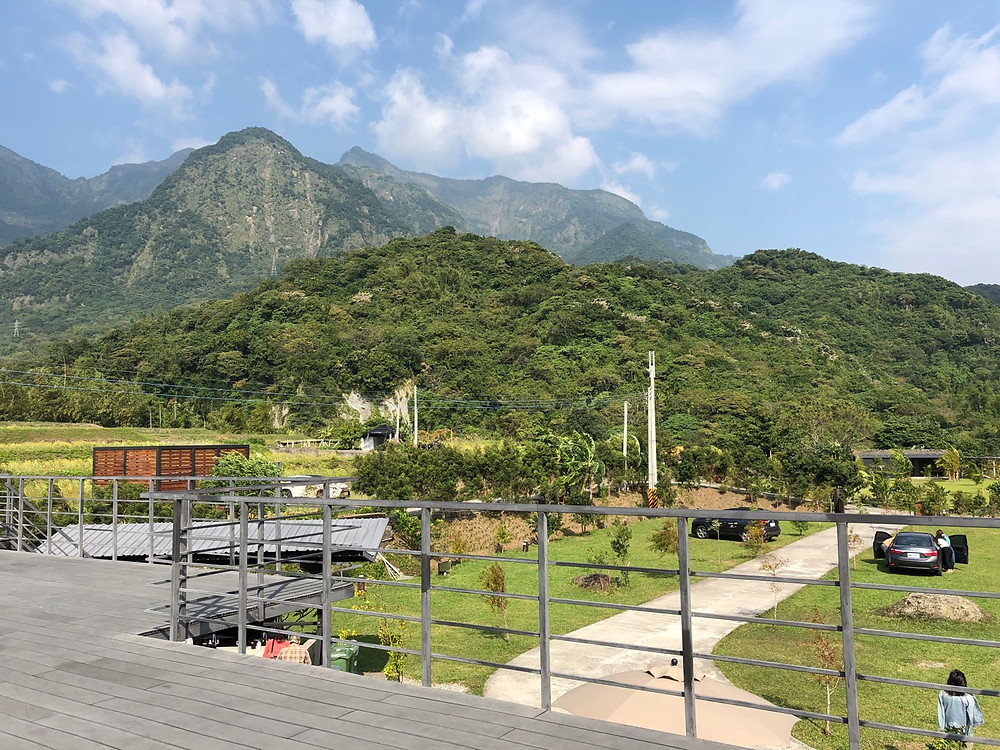 View of Herdor Bistro's camping grounds from the 180-degree view deck
