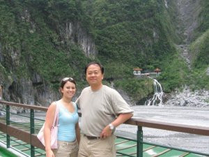 Me and Dad at Taroko Gorge