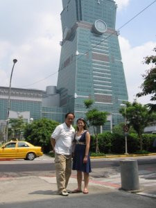 Me and Dad at Taipei 101. Both our first time!