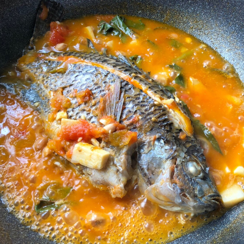 Pickled fish in soup