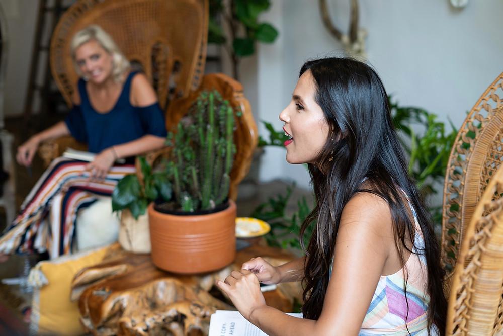 Angie Sanchez facilitating the Self-Love Integration Workshop