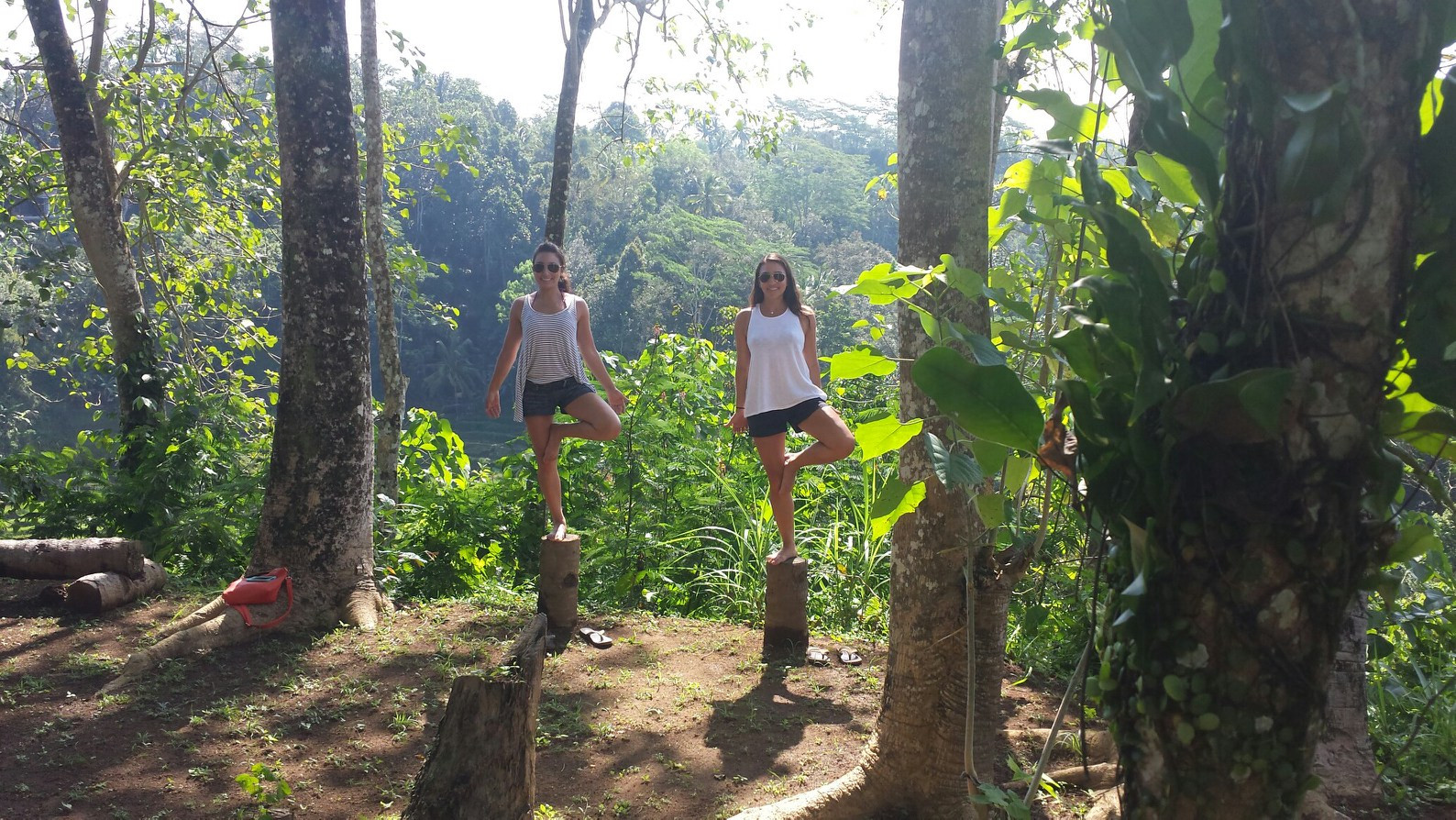 My sister and I finding our balance in Bali
