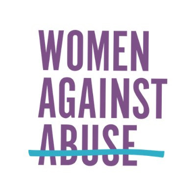 "Women Against Abuse Logo with the word ""abuse"" crossed out"