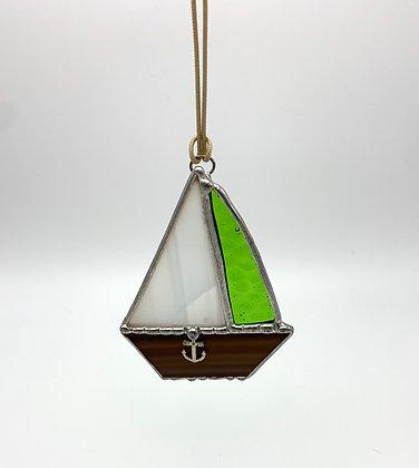 Pine Tree Glassworks Sailboat - Green