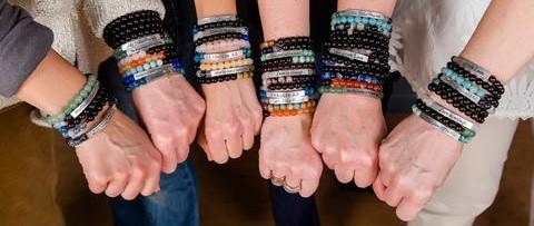 Iamtra stacking bracelets