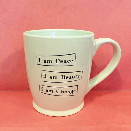 Iamtra Mug; Peace, Beauty, Change