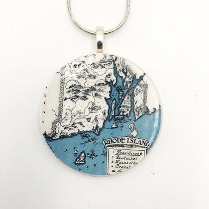 Retropage Necklace - Rhode Island