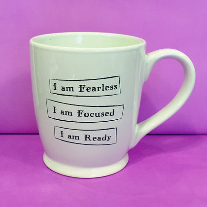 Iamtra Mug; Fearless, Focused, Ready