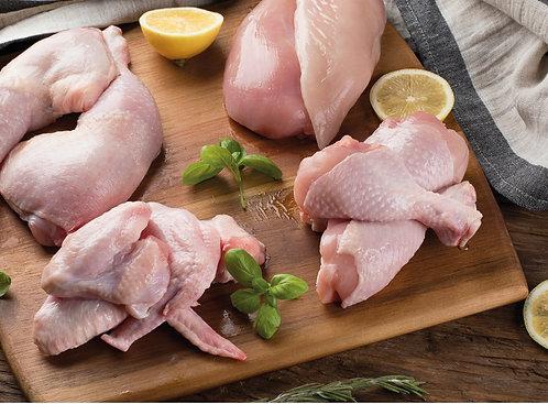 Grazing chicken