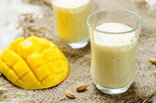 Yogurt de cabra, mango