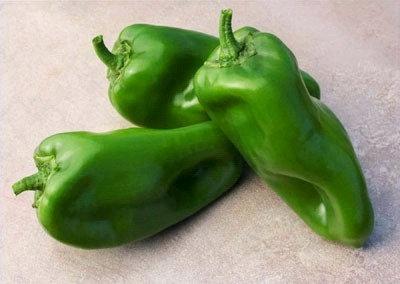 Chile dulce verde