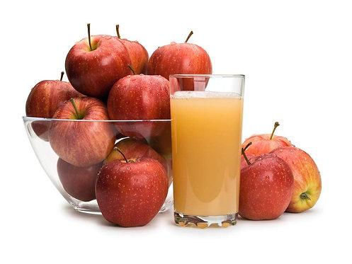 * Apple juice, pasteurized