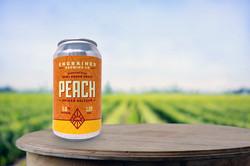 Peach Seltzer Single Can Farm Background