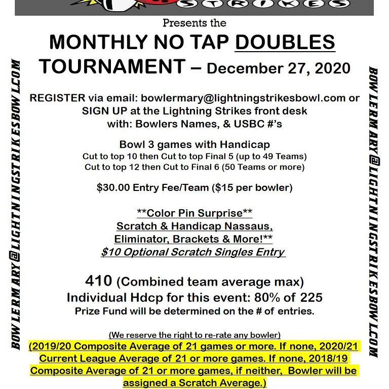 Monthly No-Tap Doubles