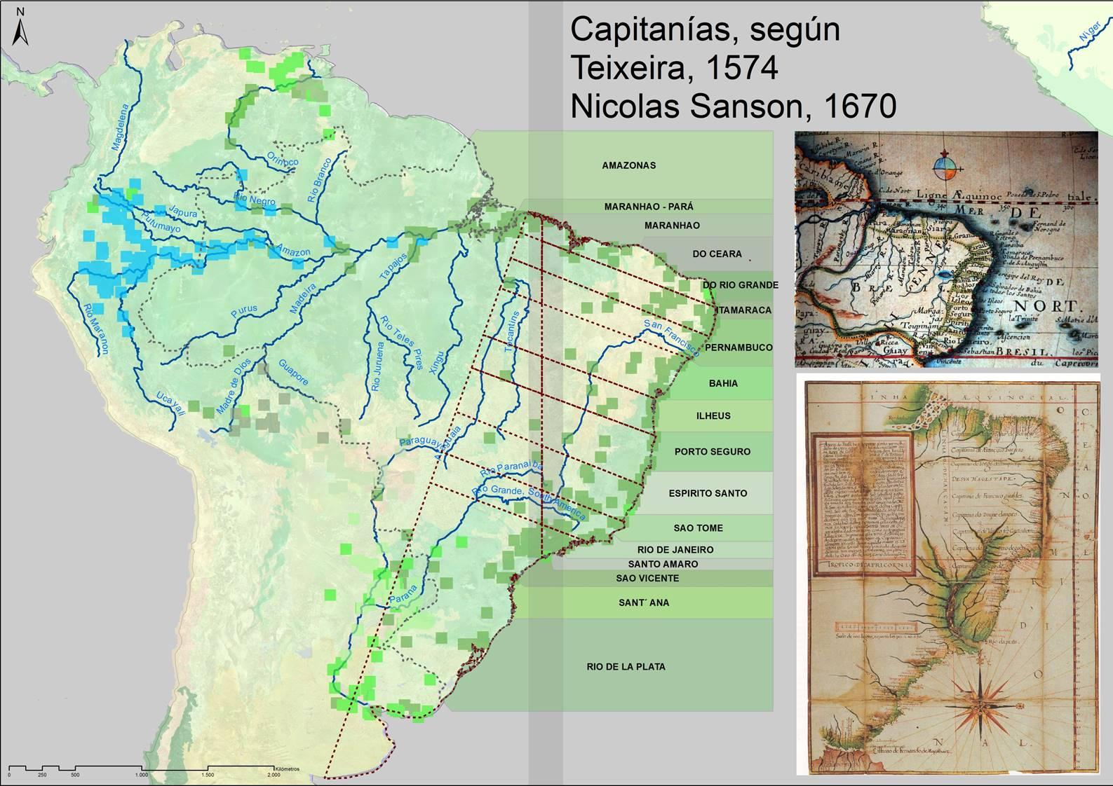 Las primeras capitanías hereditarias