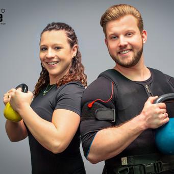 Werbeaufnahmen: EMS-Training