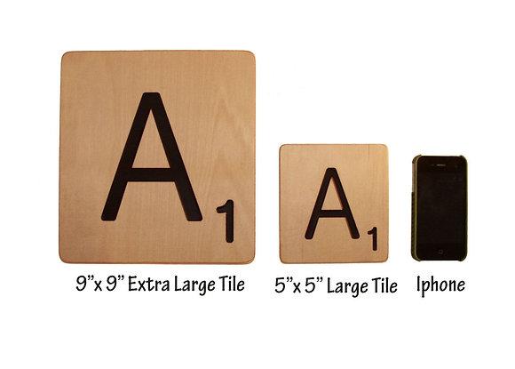 "Extra Large Scrabble Tiles 9""x9"" - Home Decor"