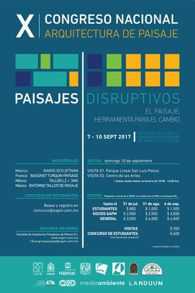 X CONGRESO NACIONAL DE ARQUITECTURA DE PAISAJE