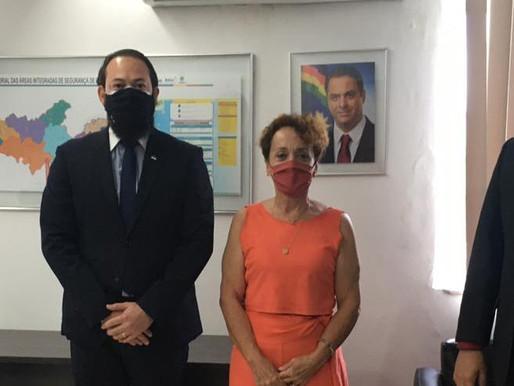 Laura Gomes se reúne com novo secretário de Defesa Social