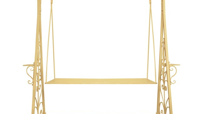 Gold Cake Swing/ Stand