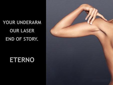 Laser the underarm hair away @ Eterno, Kochi