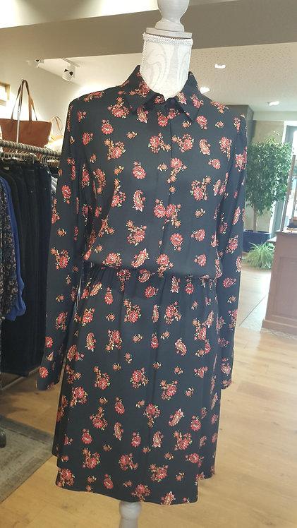 KOCCA - Robe CAUSTIC à motifs fleurs élastiquée à la taille