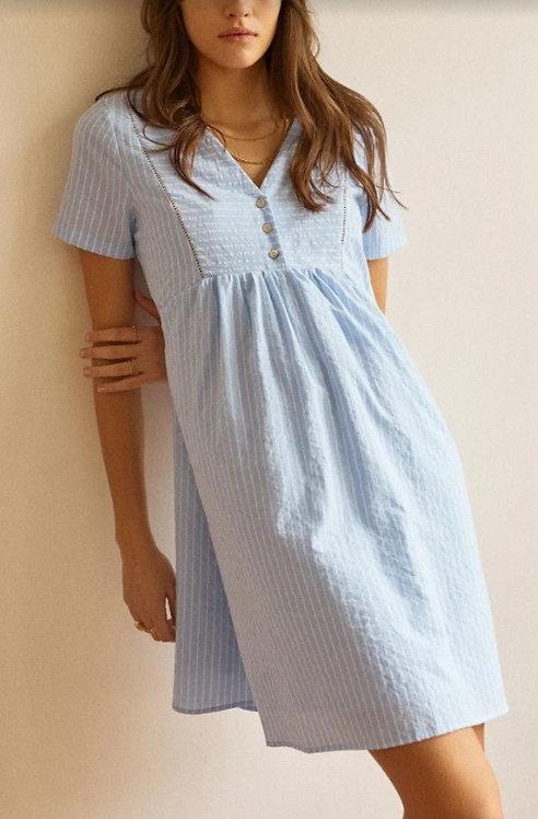 GARANCE - Robe imprimé bleu - Ref: GATSBY